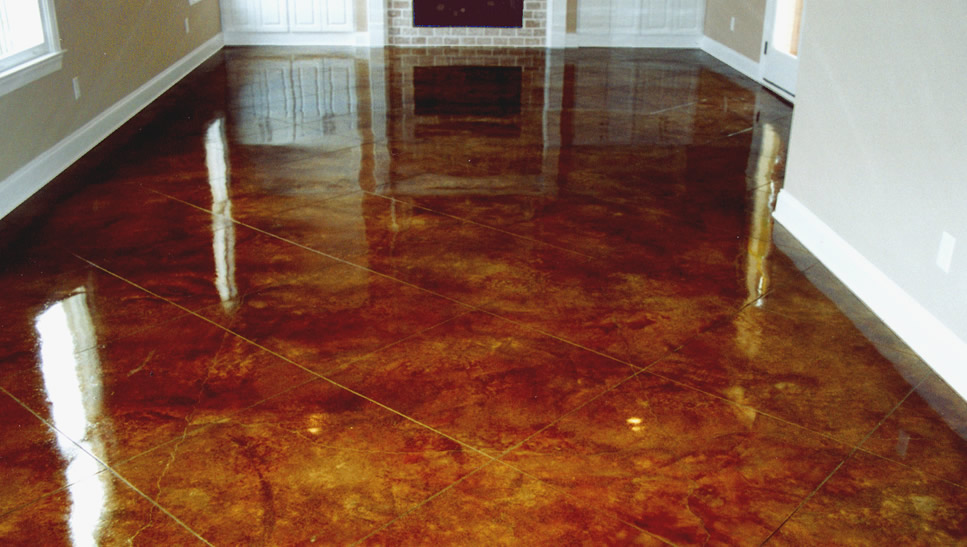 Acid stain preparation in portland bach custom coatings for How to clean stained concrete garage floors